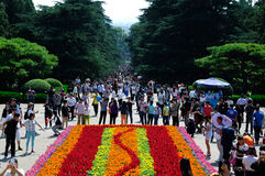 Holidays in the sun yat-sen's mausoleum scenic spot Stock Images