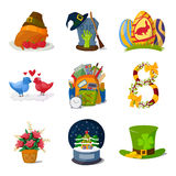 Holidays symbols vector. Royalty Free Stock Images
