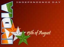 Holidays template for fifteenth August, Indian Independence Day Royalty Free Stock Image