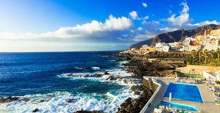 Relaxing holidays in beautiful Tenerife. Canary islands stock photography