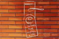 Holidays and tourism: Loving the Hotel Life Stock Photo