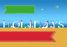 Holidays. Travel card. Royalty Free Stock Image