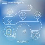 Holidays and Travels Creative Icon Background Concept Stock Images