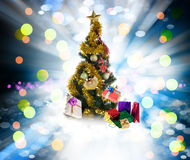 Holidays Tree.Merry Christmas Stock Images