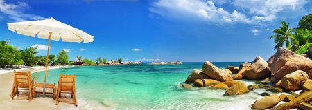 Holidays in tropical paradise. Seychelles - holidays in tropical paradise Stock Photography