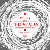 Holidays typography at abstract winter liner bacdrop Royalty Free Stock Images