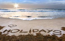 Holidays, vacation. Vacation on sea, relax under sun Royalty Free Stock Photography