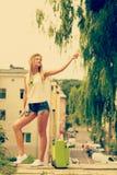 Girl enjoy her free time holidays royalty free stock photo
