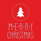 Holidays vector card with Merry Christmas wishes Royalty Free Stock Photo