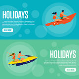 Holidays Website Template Set. Horizontal banners Stock Photos
