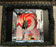 16d488ed2f0 Holidays window display at Sacks Fifth Avenue titled `Land of 1000  Delights` in Manhattan