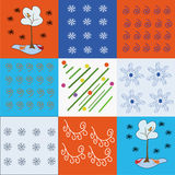 Holidays winter pattern Royalty Free Stock Photos