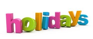 Holidays Word. Stock Photos