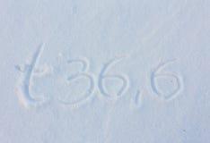 Holidey written on snow Stock Photo