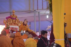 Holiness Dalai lama w Bodhgaya, India zdjęcia royalty free