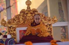 Holiness Dalai lama w Bodhgaya, India zdjęcie royalty free