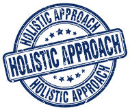 Holistic approach blue stamp. Holistic approach blue grunge stamp Royalty Free Stock Photography