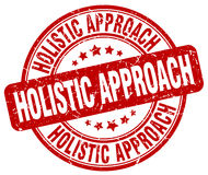 Holistic approach red stamp. Holistic approach red grunge stamp Royalty Free Stock Photo