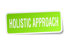 Holistic approach square sticker. On white Royalty Free Stock Photo