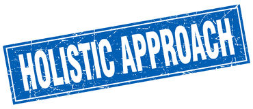 Holistic approach stamp. Holistic approach square blue stamp Stock Image