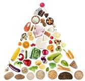 Holistic dieetconcept royalty-vrije stock foto's