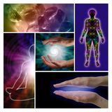 Holistic Healing Collage Royalty Free Stock Photography