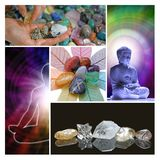 Holistic Healing Therapy Collage Royalty Free Stock Photos