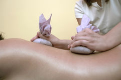 Holistic massage Stock Images