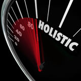 Holistic Speedometer Mind Body Health Balance Total Whole Approa Stock Photography