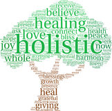 Holistic Word Cloud. On a white background Stock Images