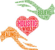 Holistic Word Cloud Royalty Free Stock Photo