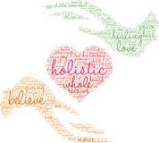 Holistic Word Cloud Stock Photos