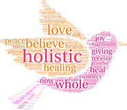 Holistic Word Cloud Stock Photography