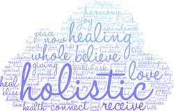 Holistic Word Cloud. On a white background Royalty Free Stock Photo