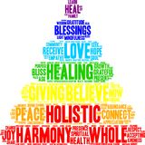 Holistic Word Cloud. On a white background Royalty Free Stock Photography