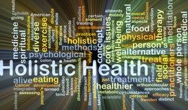 Holistisches Gesundheitshintergrund-Konzeptglühen Stockfoto