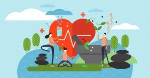 Holistisk läka vektorillustration Alternativ medicin och mindset royaltyfri illustrationer