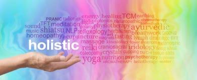Holistyczna terapii słowa chmura Fotografia Royalty Free