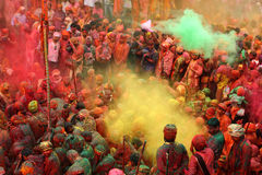 Holiviering in Nandgaon Stock Foto's