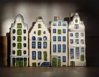 holländare houses townen Arkivfoton