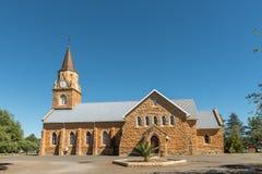 Holländare omdanade moderkyrkan som byggdes 1890, i Ladybrand Royaltyfri Bild