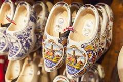 Holländareträskor, skor som göras av poppelträ Arkivbild