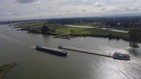 Holländische Flusslandschaft Stockfotos