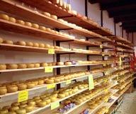 Holländische Käse auf Anzeige Stockbilder
