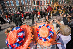 Holländische Königinparade Stockbilder