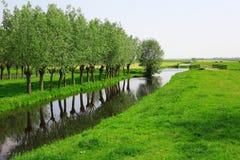 Holländische Landschaft Stockfotos