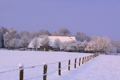 Holländische Landschaft im Winter Stockfoto