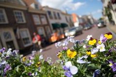 Holländische Straßenszene Stockfotos