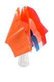 Holländische und orange Markierungsfahnen in ihr für holländischen Feiertag stockfoto