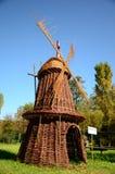 Holländische Windmühle hergestellt von der Flechtweide Lizenzfreies Stockbild